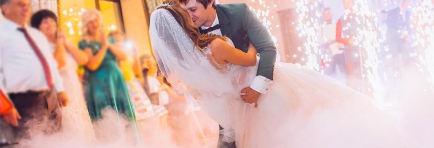 Ambiance de mariage fumigenes
