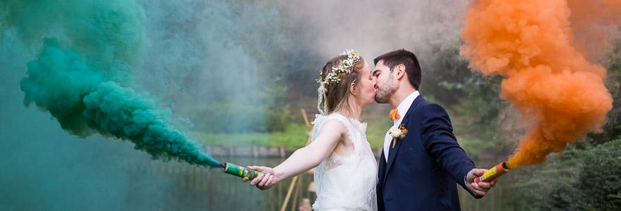 Organisation de fetes de mariage fumigenes