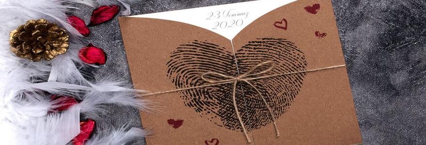 une carte de remerciement de mariage en ligne